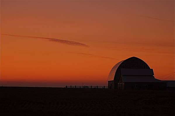 Art Print featuring the photograph Barnyard Sunset by Mark Lemon