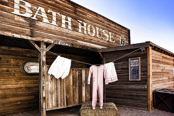 Bathhouse Art Print featuring the photograph Bath House In Old Tucson by Wendy White