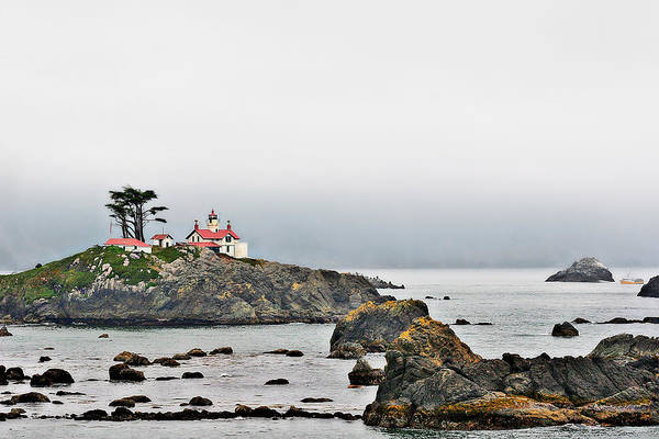 Battery Point Lighthouse Art Print featuring the photograph Battery Point Lighthouse California by Christine Till