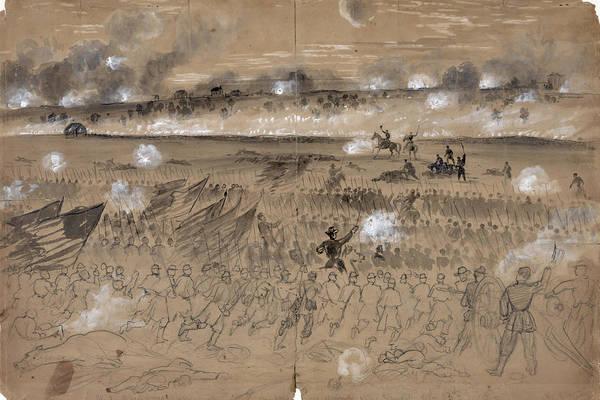1862 Art Print featuring the photograph Battle Of Fredericksburg by Granger