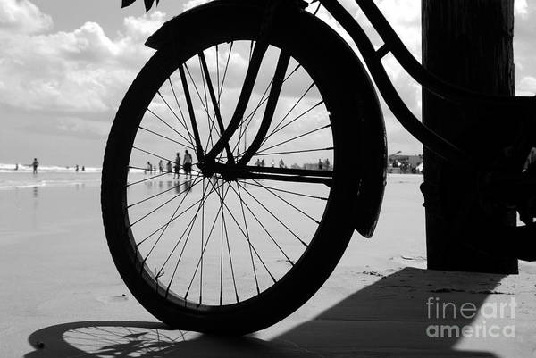 Beach Art Print featuring the photograph Beach Bicycle by David Lee Thompson