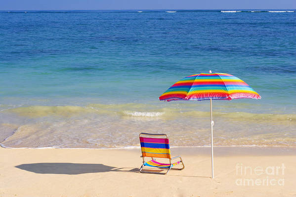 Afternoon Art Print featuring the photograph Beach Chair by Tomas del Amo - Printscapes