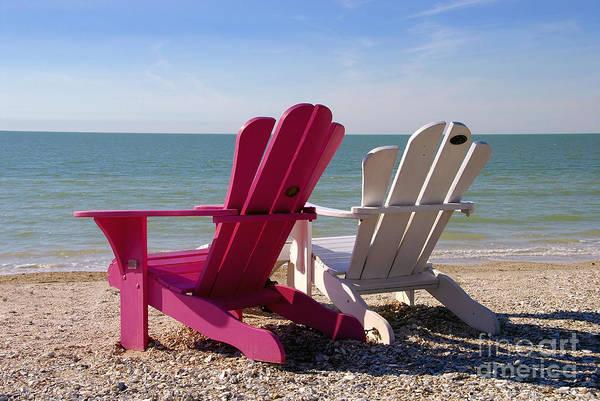 Beach Chairs Art Print featuring the photograph Beach Chairs by David Lee Thompson