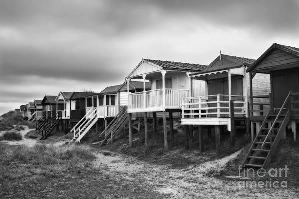 Hut Print featuring the photograph Beach Huts North Norfolk Uk by John Edwards