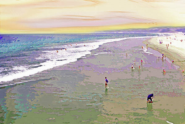 California Art Print featuring the photograph Beachgoers 1 by Steve Ohlsen