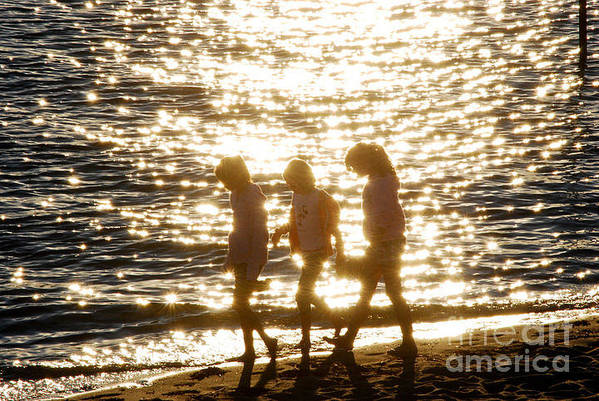 Onset Beach Art Print featuring the photograph Bff's by Carol Christopher