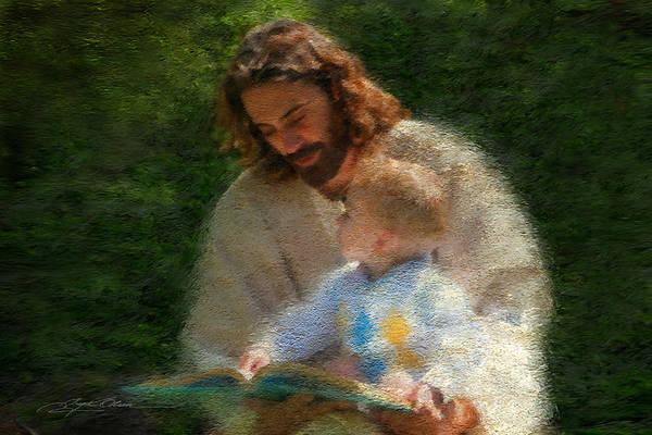 Jesus Print featuring the painting Bible Stories by Greg Olsen