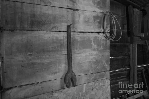 Wrench Art Print featuring the photograph Big Wrench Mister by LeRoy Banks