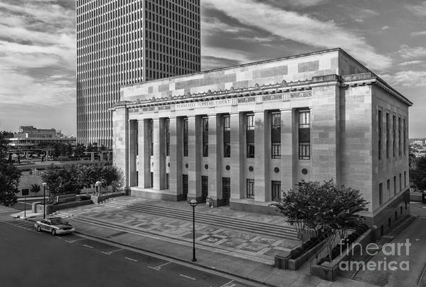 Tn Art Print featuring the photograph Black And White Of The Tennessee Supreme Court Building In Nashville Tennessee by Jeremy Holmes