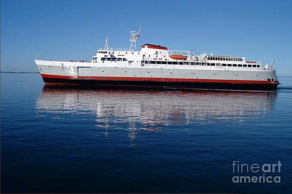 Boat Art Print featuring the photograph Black Ball Ferry by Larry Keahey