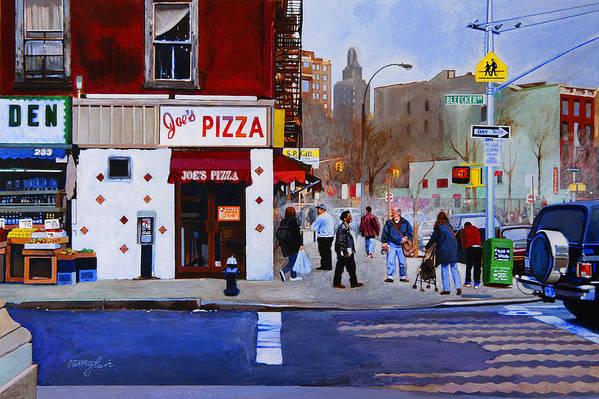 Bleecker Street Art Print featuring the painting Bleecker Street by John Tartaglione