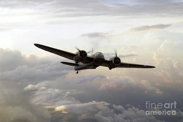 Bristol Art Print featuring the digital art Blenheim Flight by J Biggadike