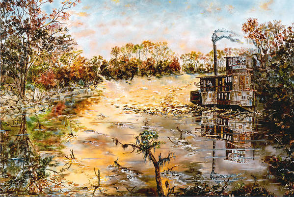 Savannah Art Print featuring the painting Blockade Runner by Richard Barham