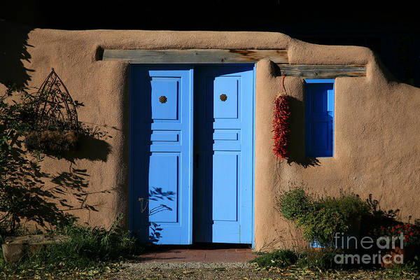 Doors Art Print featuring the photograph Blue Doors by Timothy Johnson