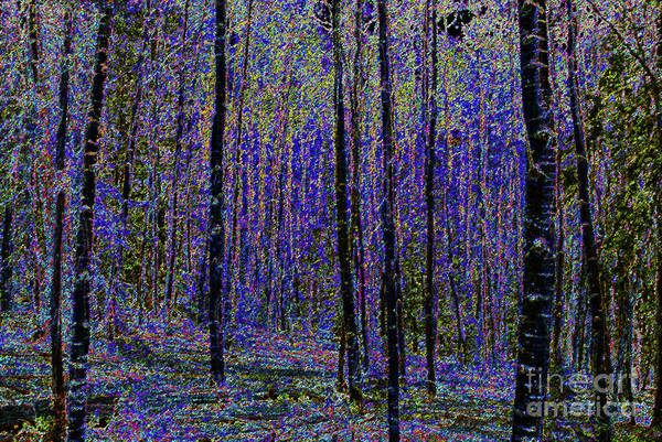 Art Art Print featuring the painting Blue Forest by David Lee Thompson