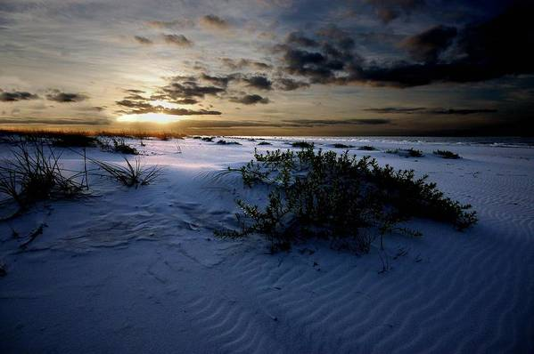 Alabama Photographer Art Print featuring the digital art Blue Morning by Michael Thomas