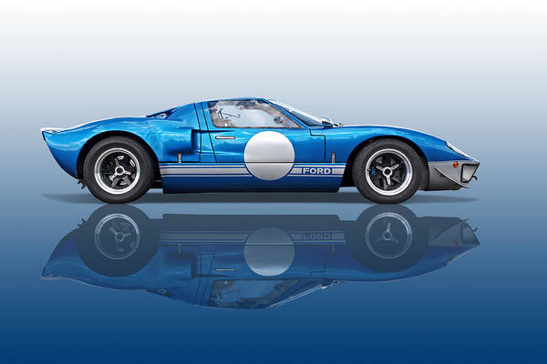 Ford Gt Art Print Featuring The Photograph Blue Reflections Ford Gt By Gill Billington