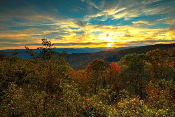 Carol R Montoya Art Print featuring the photograph Blue Ridge Sunsets by Carol Montoya