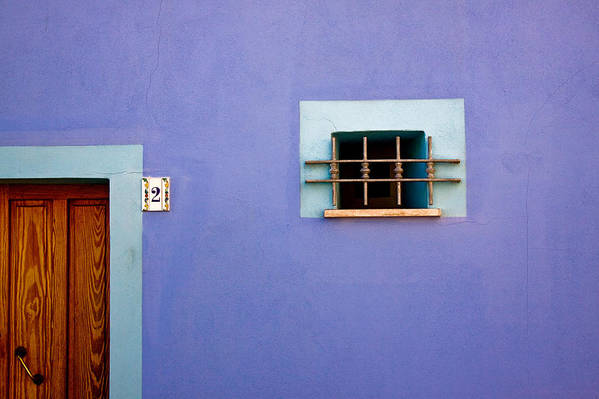 Alghero Art Print featuring the photograph Blue Wall Window And Door by John Daly