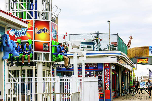 This Is A Photo Of One Of The Boardwalk Rides At The Seaside Heights Boardwalk In New Jersey. Art Print featuring the photograph Boardwalk Ride by William Rogers