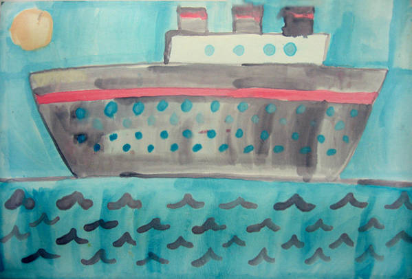 Boat Art Print featuring the painting Boat by Sean Cusack