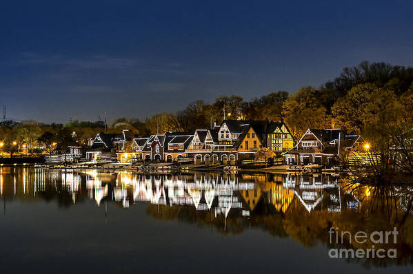 Boathouse Row Art Print featuring the photograph Boathouse Row by John Greim