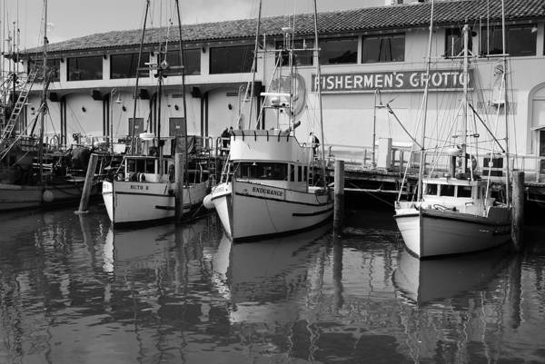 Water Art Print featuring the photograph Boats At The Dock by Brian Anderson