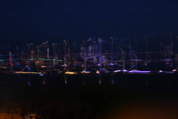 Boat Parade Art Print featuring the photograph Boats On The Water by Austin Eaton