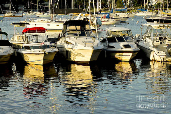 Boats Art Print featuring the photograph Boats Reflected by Carol F Austin