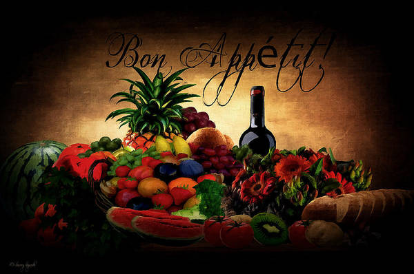 Art Print featuring the digital art Bon Appetit by Lourry Legarde