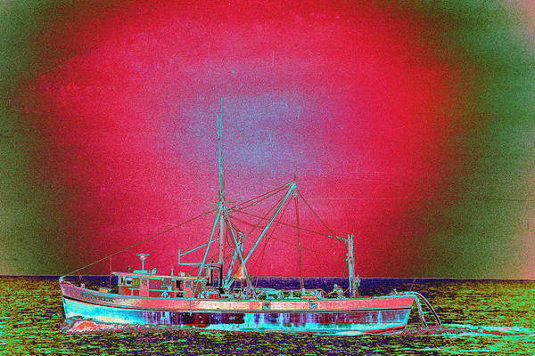 Fishing Boat Art Print featuring the photograph Bonaker by Richard Henne