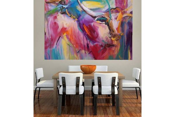 Animal Art Print featuring the painting Boom by Heather Roddy