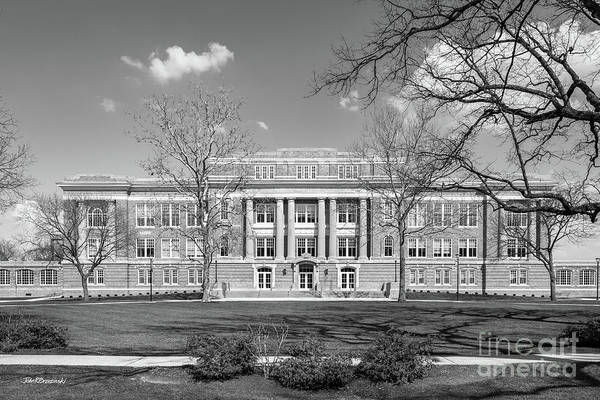 American Art Print featuring the photograph Bowling Green State University Hall by University Icons