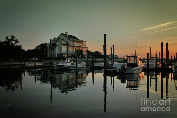 Coastal Scene Art Print featuring the photograph Bradley Creek At Dawn by Phil Mancuso
