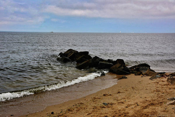 Chesapeake Bay Art Print featuring the photograph Breakwaters by Kathi Isserman