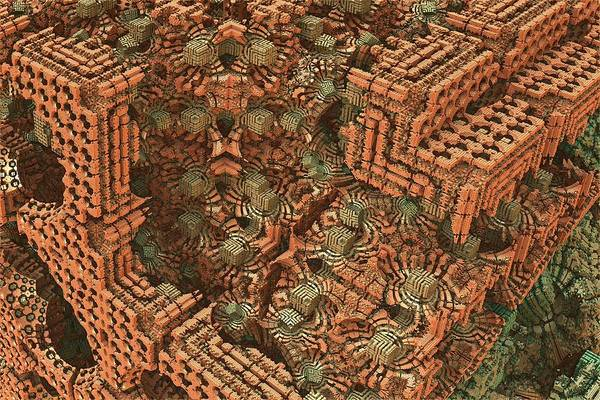 Mandelbulb Art Print featuring the digital art Bricks And Mortar by Lyle Hatch