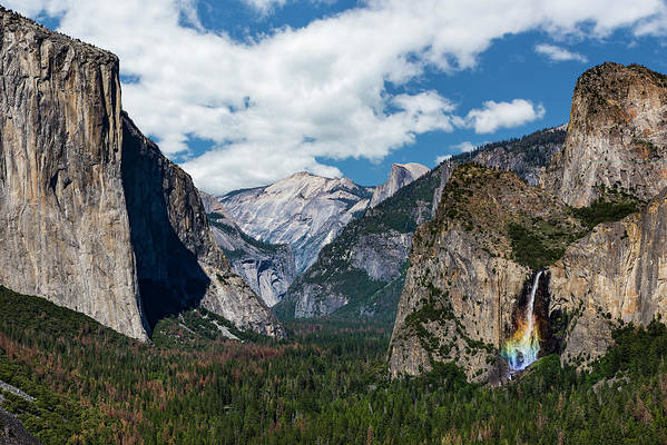 Yosemite Art Print featuring the photograph Bridal Veil Falls Rainbow by Daniel Kelly