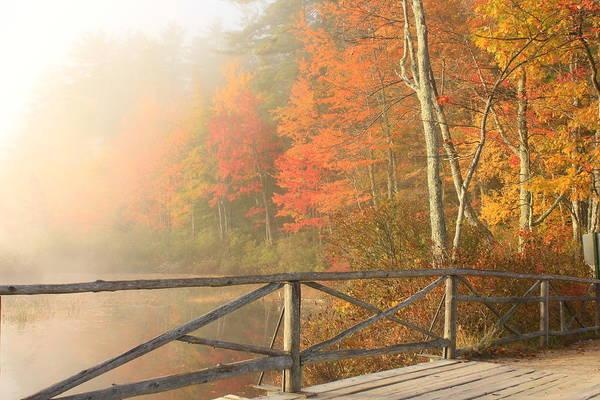 Chocorua Lake Art Print featuring the photograph Bridge At Chocorua Lake by John Burk