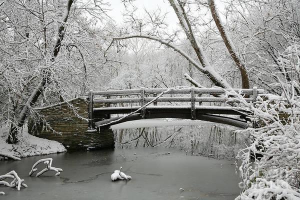 Bridge Art Print featuring the photograph Bridge In Winter by Timothy Johnson