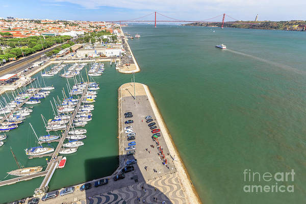 Lisbon Art Print featuring the photograph Bridge Of 25 April Panorama by Benny Marty