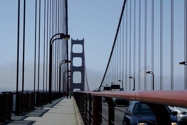 San Francisco Art Print featuring the photograph Bridge Walk by Sonja Anderson