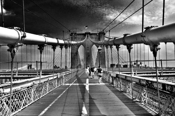 Brooklyn Bridge Art Print featuring the photograph Brooklyn Brige by Andrew Dinh
