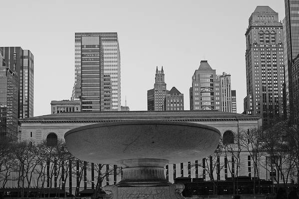 Bryant Park And Public Library Art Print featuring the photograph Bryant Park by Christian Heeb