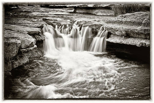 Waterfall Art Print featuring the photograph Bull Creek Water Run by Lisa Spencer