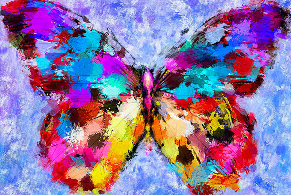 Butterfly Art Print featuring the digital art Butterfly 2 by Yury Malkov