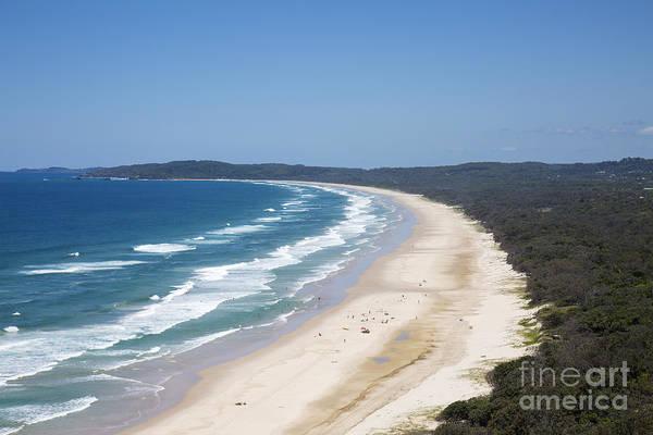 Aerial Art Print featuring the photograph Byron Bay Tallow Beach, Australia by Martin Berry