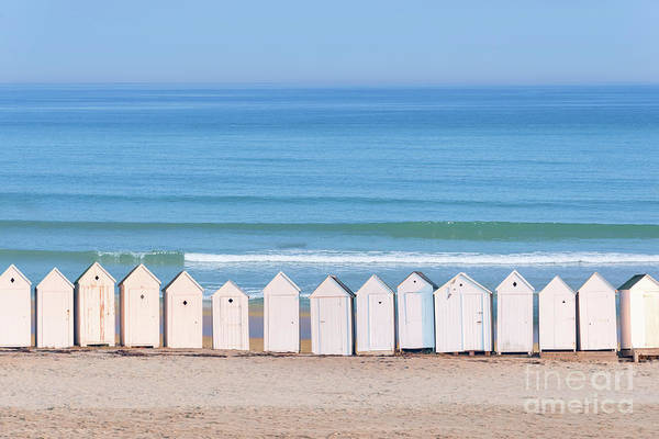 Beach Cabin Art Print featuring the photograph Cabins by Delphimages Photo Creations