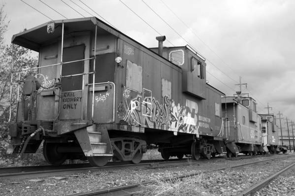 Caboose Art Print featuring the photograph Caboose X 3 by Jerry Mann