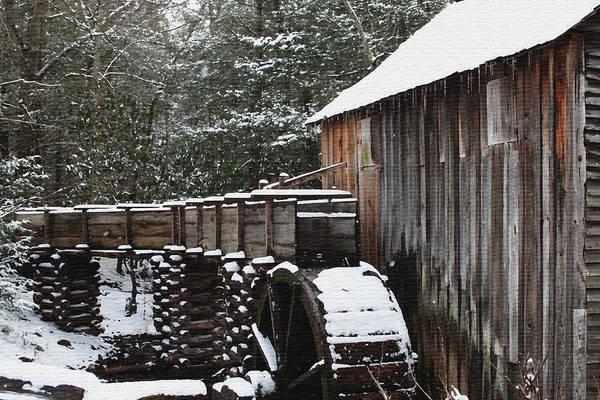 Smoky Mountains Art Print featuring the photograph Cades Cove Mill II by Margie Wildblood