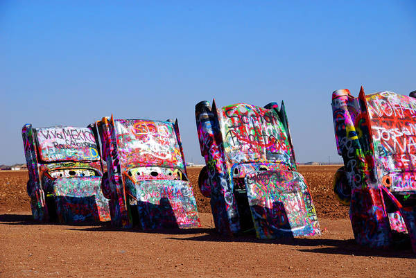 Photography Art Print featuring the photograph Cadillac Ranch by Susanne Van Hulst